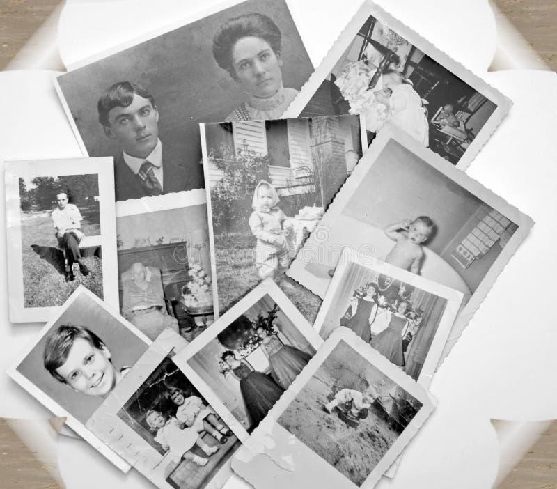 Alte Fotos in Schwarzweiss stockbild