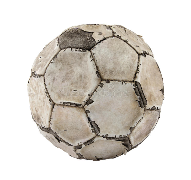 Alte Fußballkugel lizenzfreie stockfotos