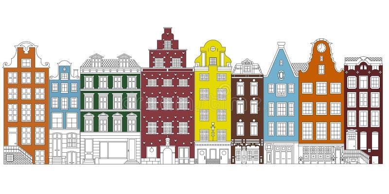 Alte Gebäude Einzelbild vektor abbildung
