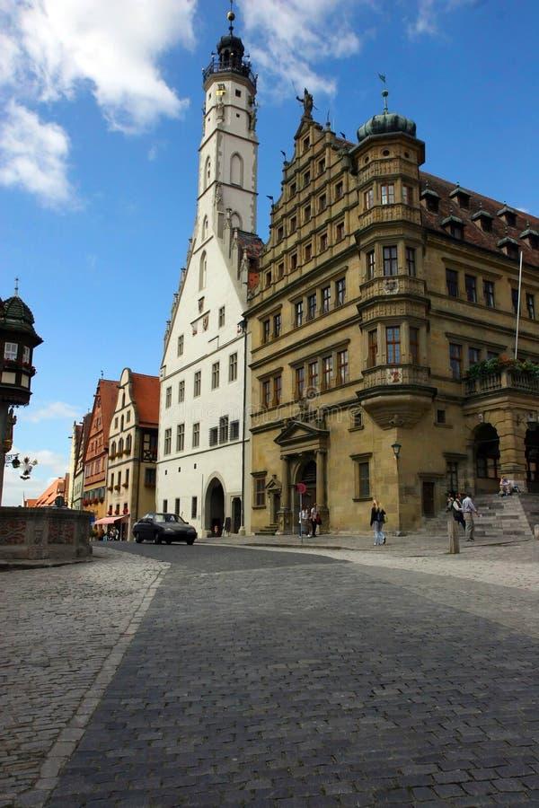 Alte Gebäude in Rothenburg, Deutschland stockfotos