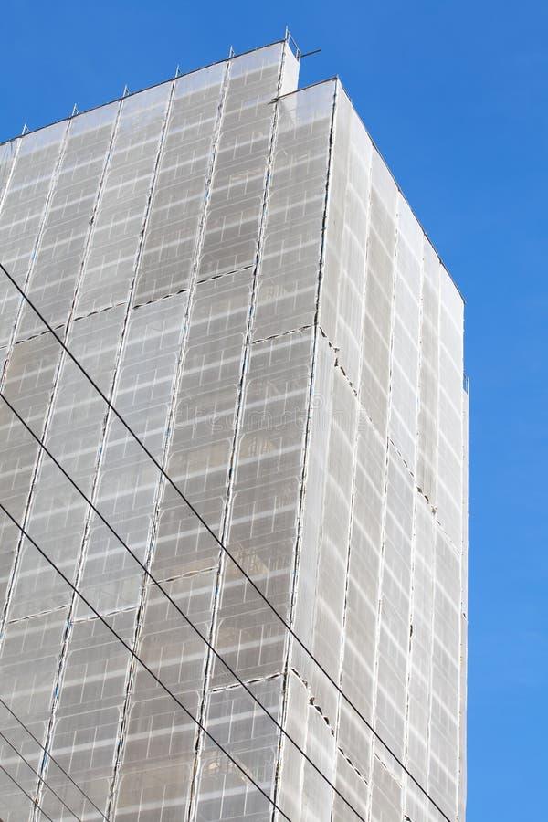 Alte Gebäudeerneuerung stockfotos