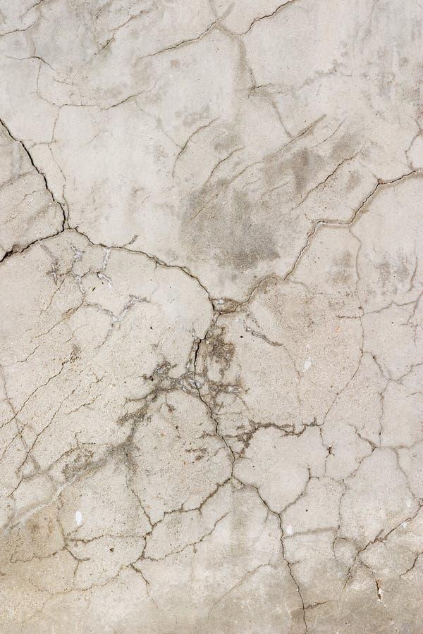 Alte gebrochene Betonmauer stockfotografie