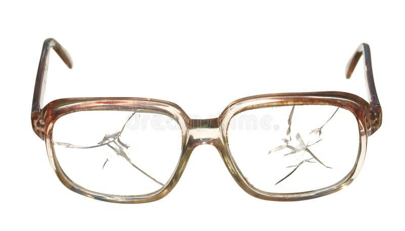 Alte gebrochene Gläser stockfoto