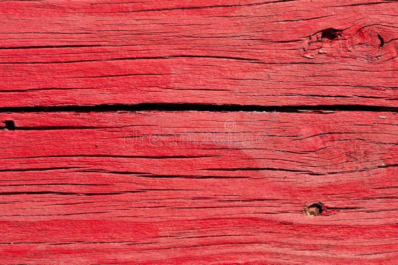 Alte gebrochene hölzerne Vorstände rot gemalt lizenzfreies stockfoto