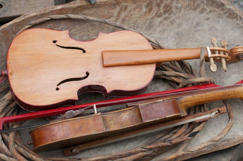 Alte Geige stockbilder