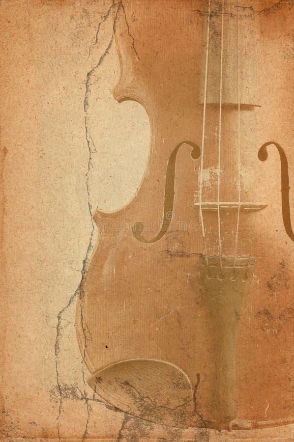 Alte Geige in der grung Art lizenzfreie stockbilder