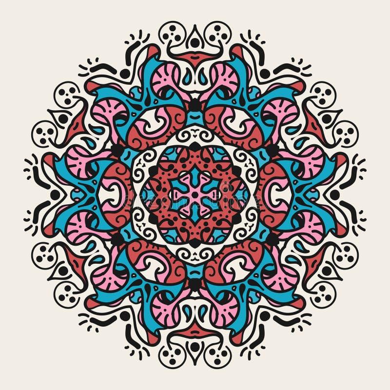 Alte geometrische Mandala lizenzfreies stockbild