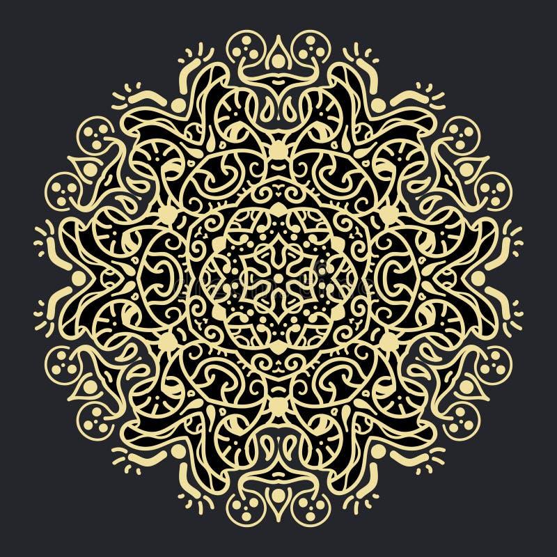 Alte geometrische Mandala lizenzfreie stockfotografie