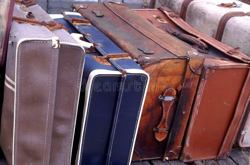 Alte Gepäckkästen lizenzfreie stockfotografie