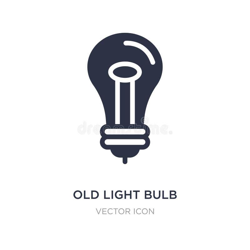 alte Glühlampeikone auf weißem Hintergrund Einfache Elementillustration vom Technologiekonzept lizenzfreie abbildung