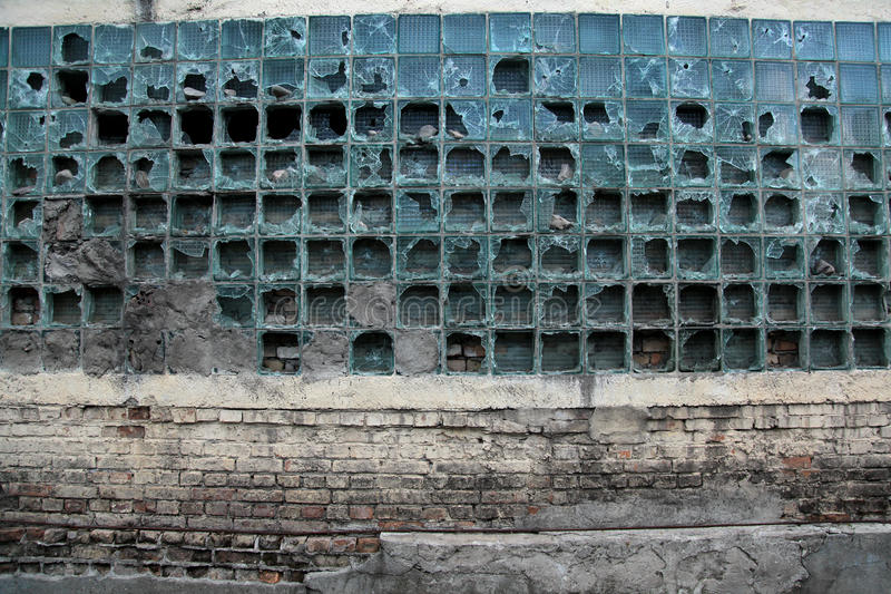 Alte Glaswand stockfotografie