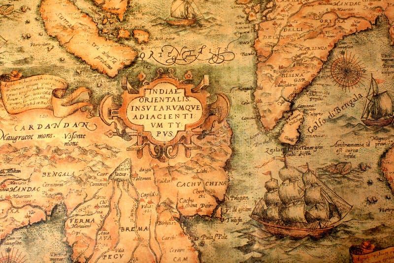 Alte globale Karte lizenzfreie stockfotos