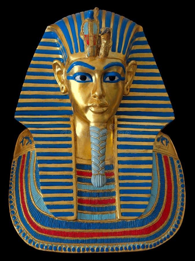 Alte Goldschablone des ägyptischen Pharaos lizenzfreie stockfotos