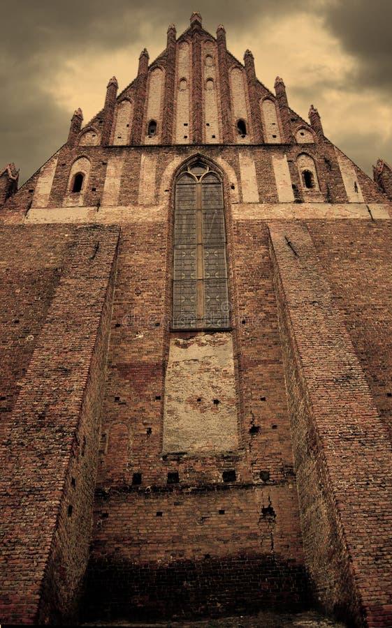 Alte gotische Kirche stockbilder