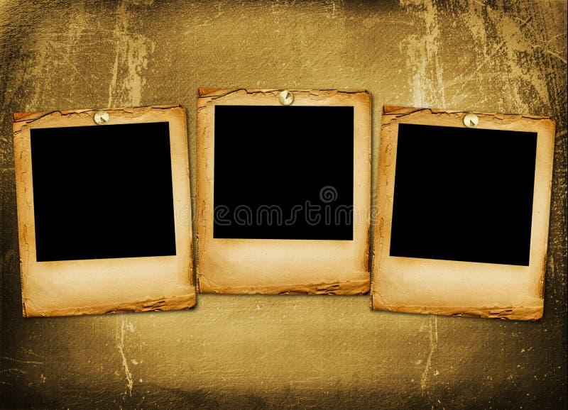 Alte grunge Papierplättchen stockfotografie
