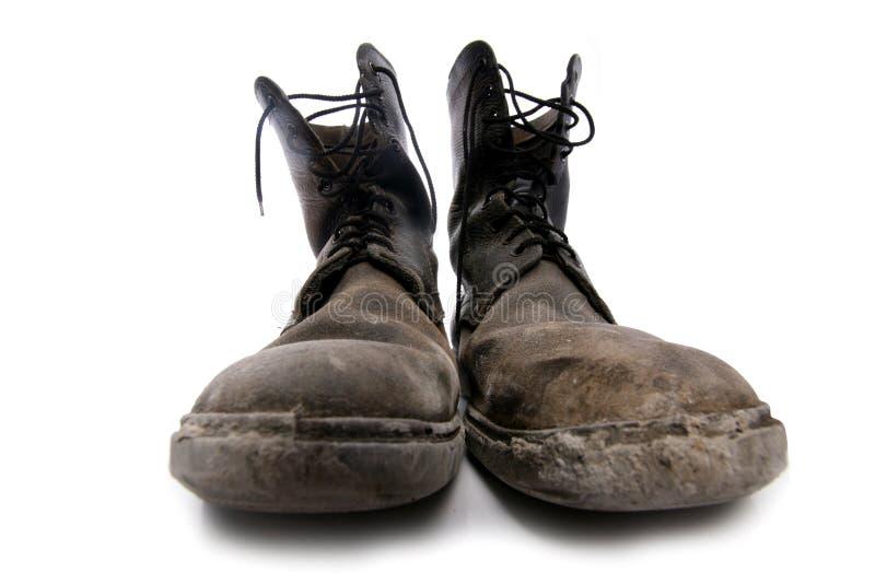 Alte gute Schuhe stockbild