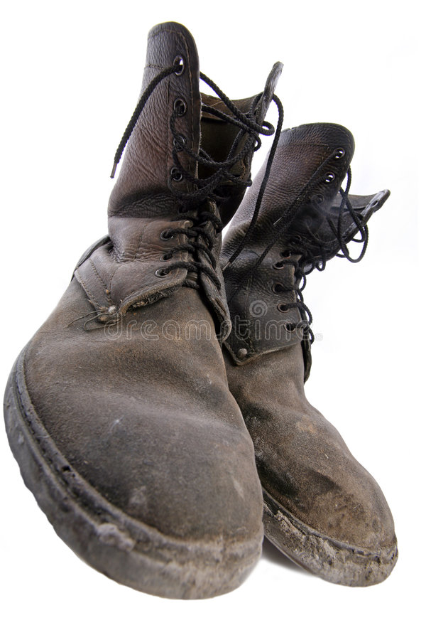 Alte gute Schuhe stockfotografie