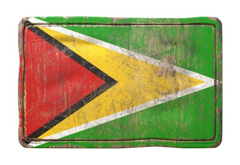 Alte Guyana-Flagge stock abbildung