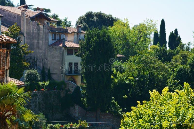 Alte Häuser in Asolo, Italien stockfoto