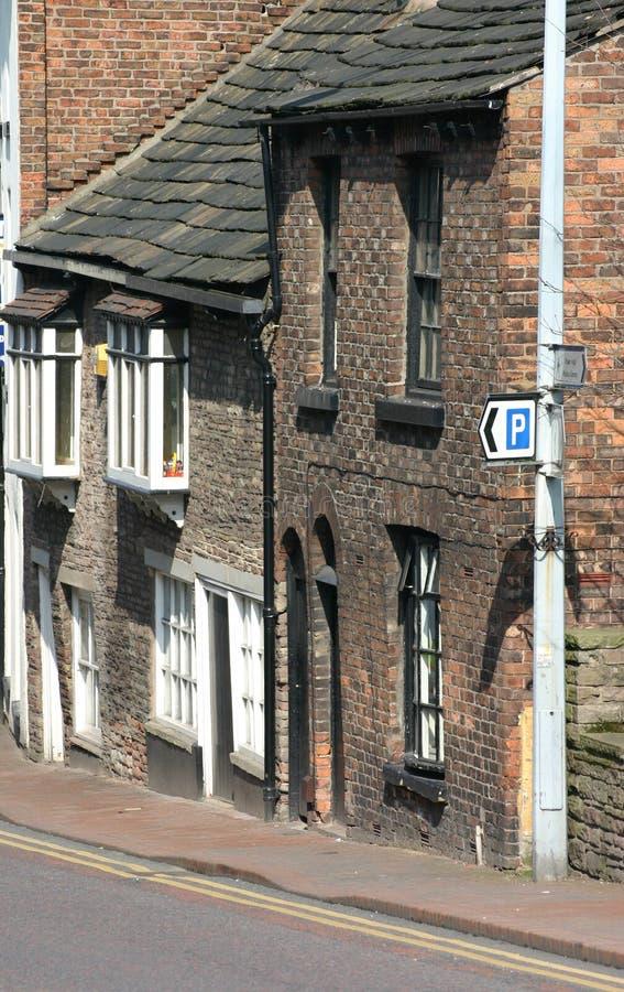 Alte Häuser in Macclesfield Cheshire lizenzfreies stockbild
