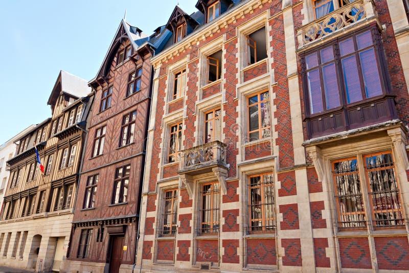Alte Häuser in Rouen lizenzfreies stockbild