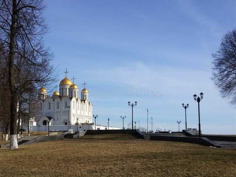 Alte Häuser und Architektur in Vladimir, der goldene Ring lizenzfreie stockfotos