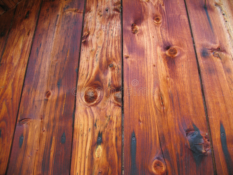 Alte hölzerne plancks