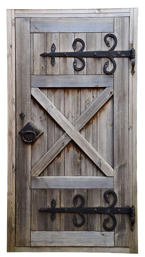 Alte hölzerne Tür lizenzfreie stockfotos