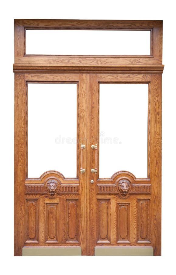 Alte hölzerne Tür des Dekors stockbild