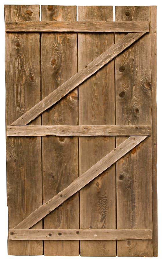 Alte hölzerne Tür trennte stockfotos