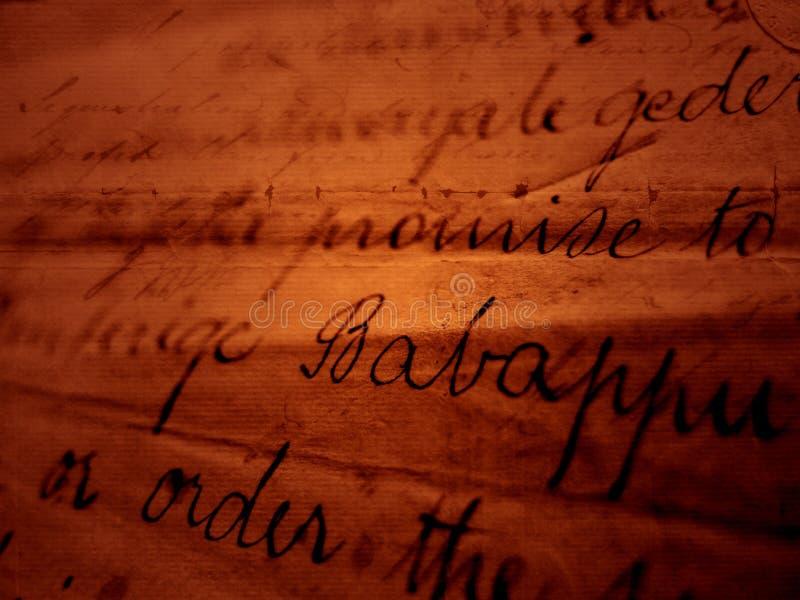 Alte Handschrift stockfoto