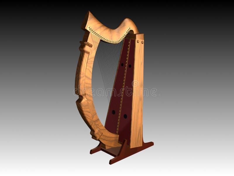 Alte Harfe stockbild