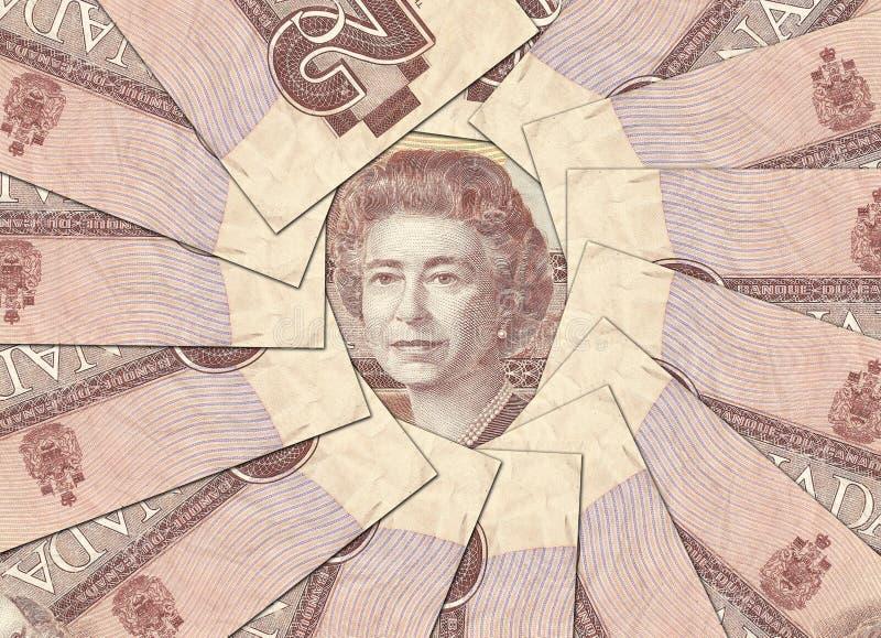 Alte kanadische Banknoten stockbild