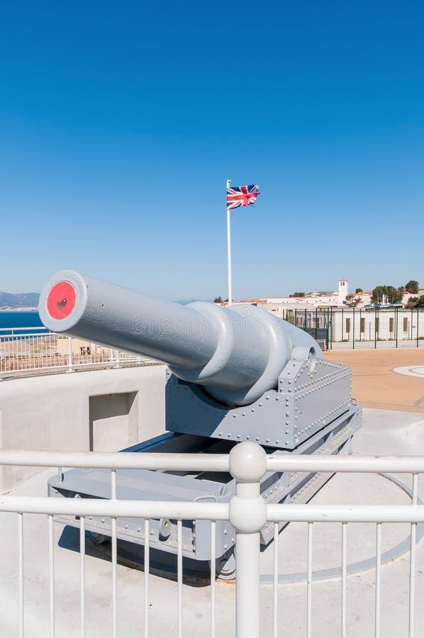 Alte Kanone auf Gibraltar stockfoto