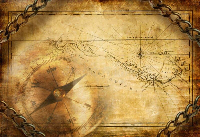 Alte Karte vektor abbildung