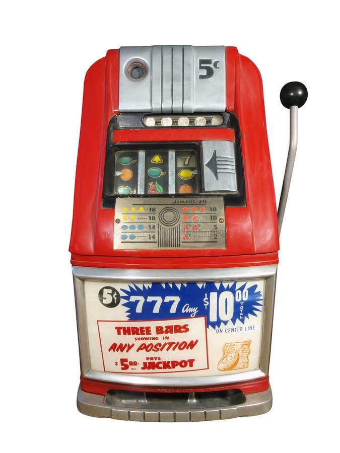 Alte Kasino-Schlitze lizenzfreie stockfotografie
