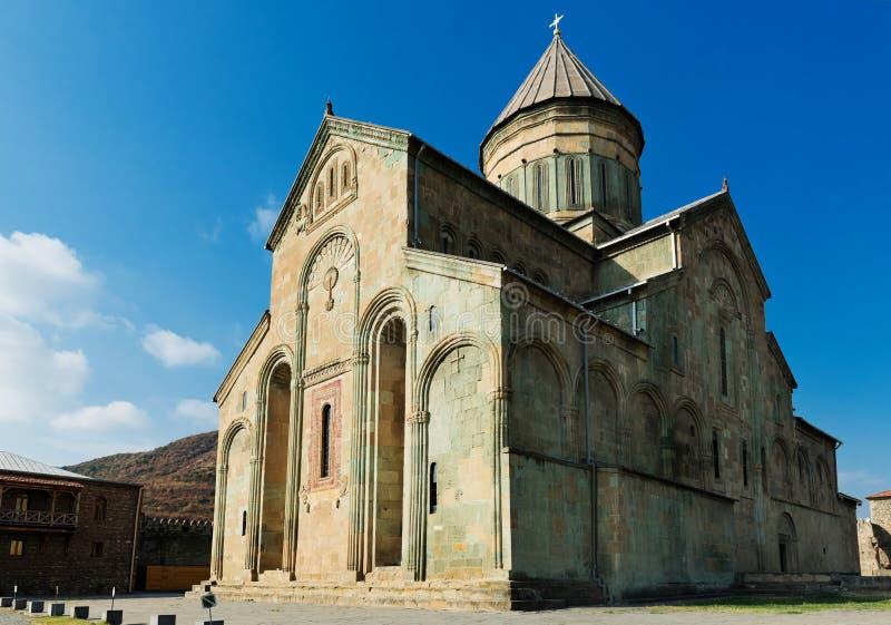 Alte Kathedrale in Mtskheta nahe Tiflis stockfotos
