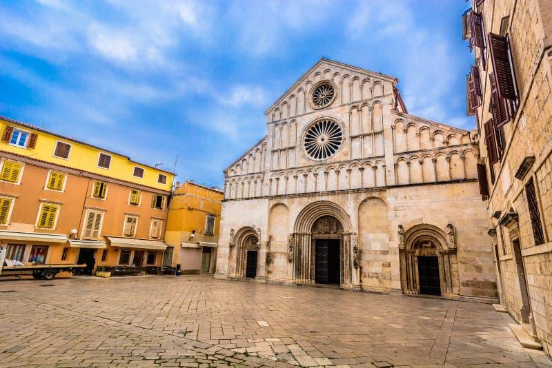 Alte Kathedrale in Zadar-Stadt, Kroatien stockfotografie