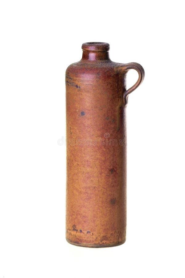 Alte keramische Flasche stockfotos