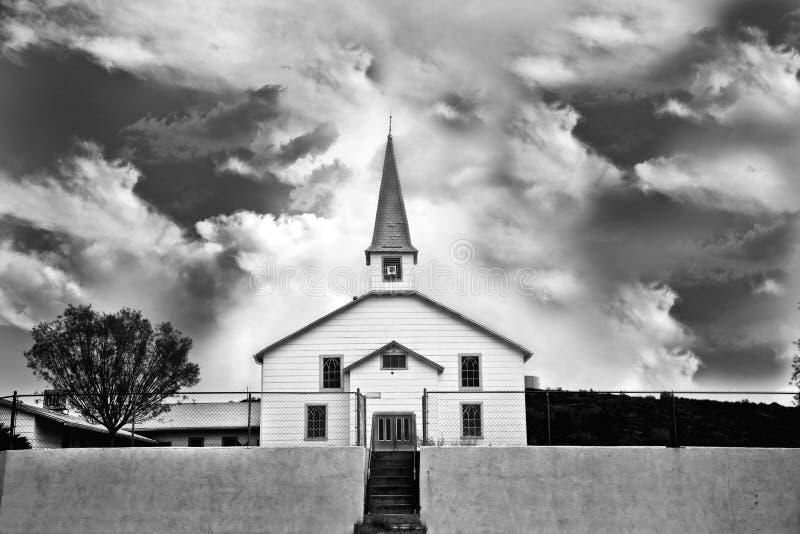 Alte Kirche in Baghdad Arizona stockbild