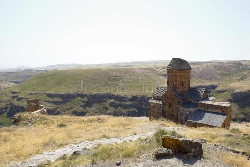 Alte Kirche in den Ruinen von Ani, die Türkei stockfotos