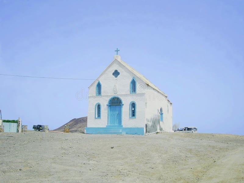 Alte Kirche in Kap-Verde lizenzfreie stockbilder