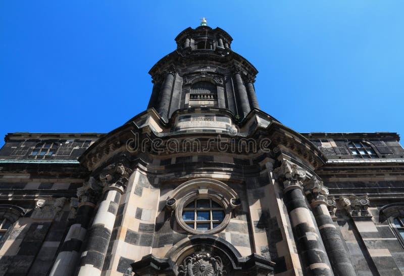 Alte Kirche Kreuzkirche in Dresden stockfotografie