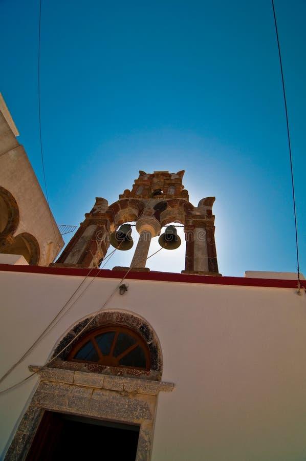Alte Kirche in Santorini Griechenland stockbild