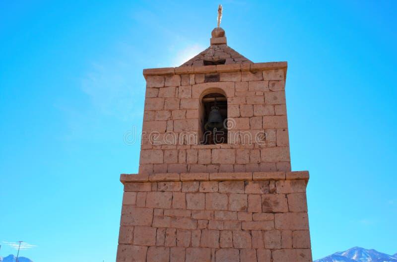 Alte Kirche in Socaire stockbild