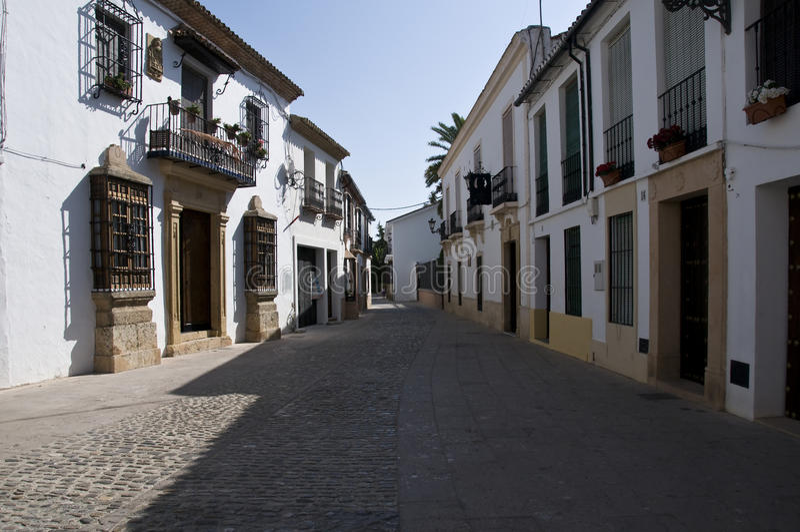 Alte kleine Straße stockbild