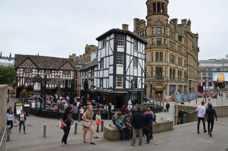 Alte Kneipe in Manchester stockbild