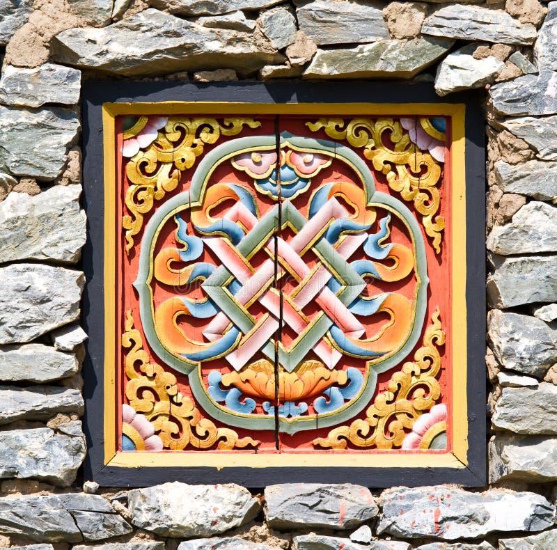Alte Kunst des Phutan Tempels lizenzfreie stockfotos