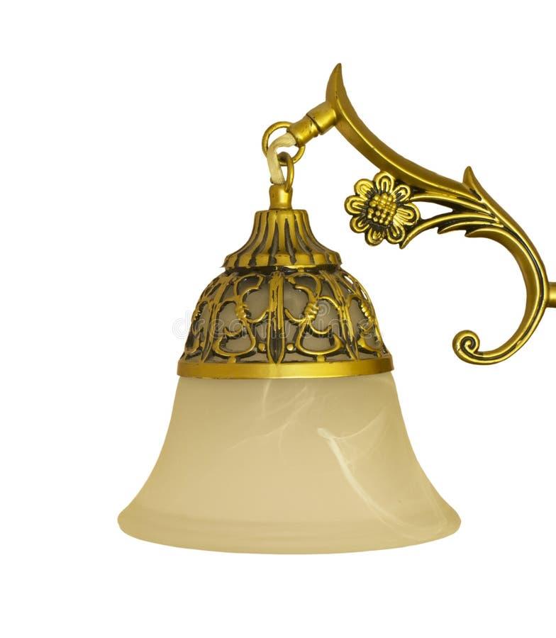 Alte Lampe lokalisiert auf Weiß lizenzfreie stockbilder