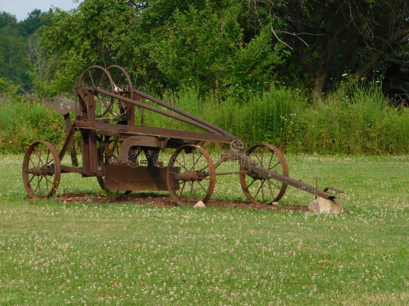 Alte landwirtschaftliche Maschinen stockbild